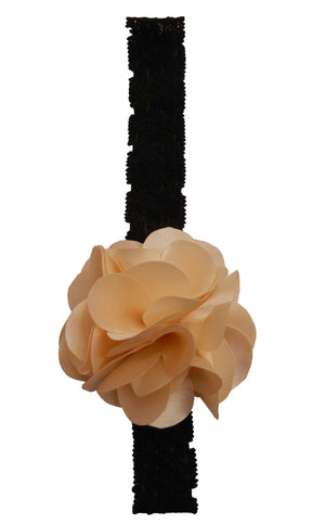 Gold flower on Black Lace Hair Band for Kids