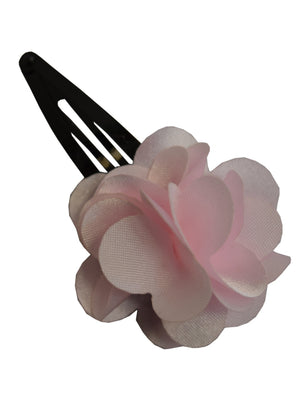 Pink flower clip_Hair clip for kids