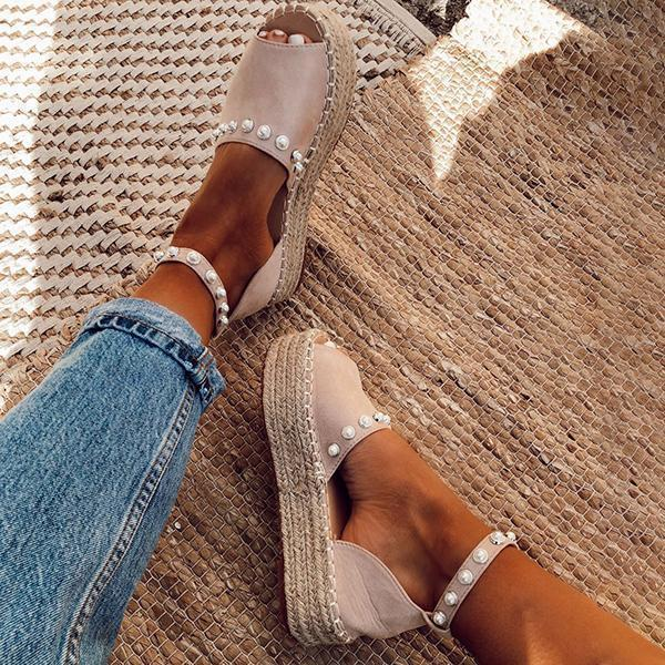 Twinklemoda Chic Flats Adjustable Buckle Sandals