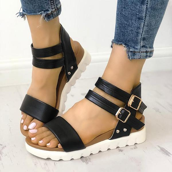 Twinklemoda Thick Sole Wedge Platform Sandals