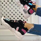 Twinklemoda Knitted Breathable Lace-Up Casual Sneakers