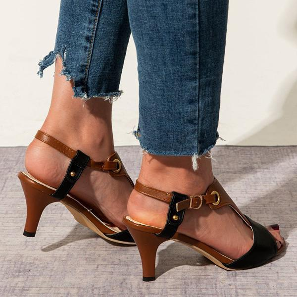 Twinklemoda Stiletto Heel Buckle Spring/fall Pu Casual Women Sandals