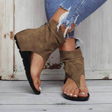 Twinklemoda Hollow out Back Zipper Flat Booties
