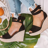 Twinklemoda Espadrille Lace Up Wedge Braided Sandals