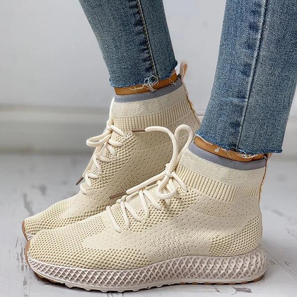 Twinklemoda Breathable Lace-up Casual Socks Sneakers
