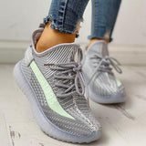 Twinklemoda Colorblock Breathable Lace-Up Casual Sneakers
