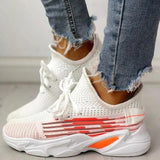 Twinklemoda Fashion Knitted Lace-Up Yeezy Stretch Sneakers