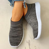Twinklemoda Casual Ribbed Breathable Knitted Sneakers