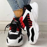 Twinklemoda Colorblock Cool Fashion Lace-Up Casual Platform Sneakers