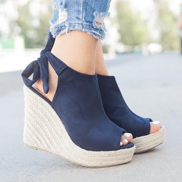 Twinklemoda Women Back-Knot Wedges Sandals
