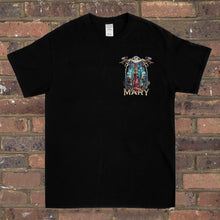 Load image into Gallery viewer, Black Rose Virgin Mary Tee