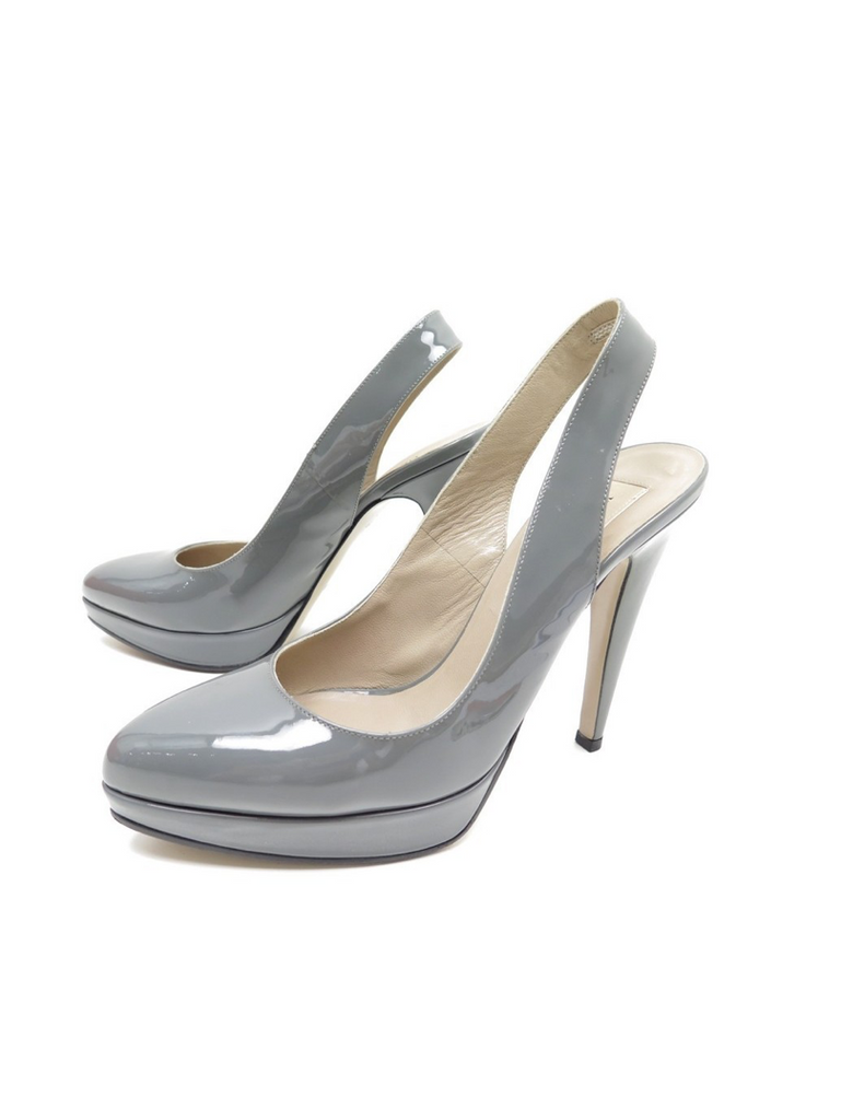 Valentino Grey Patent Pumps - Size 37