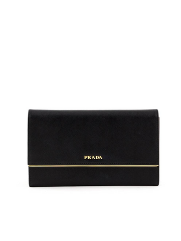 Prada Saffiano Metal Flap Clutch