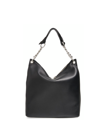Jimmy Choo Raven Leather Shoulder Bag - Black