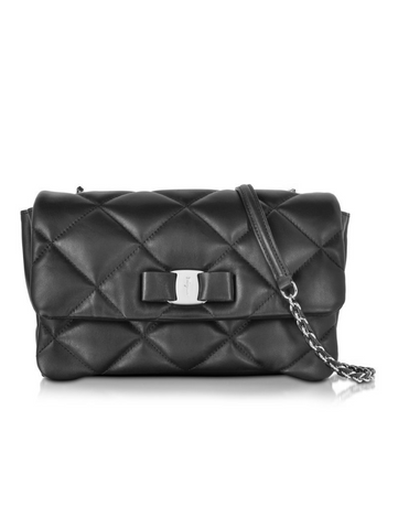 Salvatore Ferragamo Gelly Quilted Cross Body Bag - Dark Grey