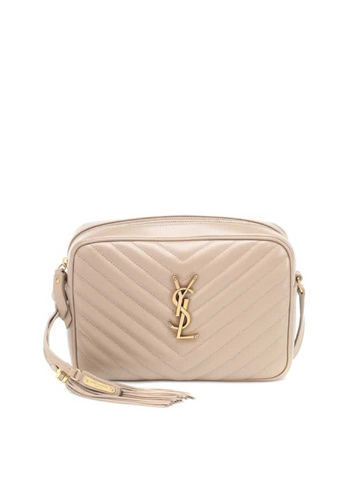 Saint Laurent Lou Quilted Camera Bag - Cream