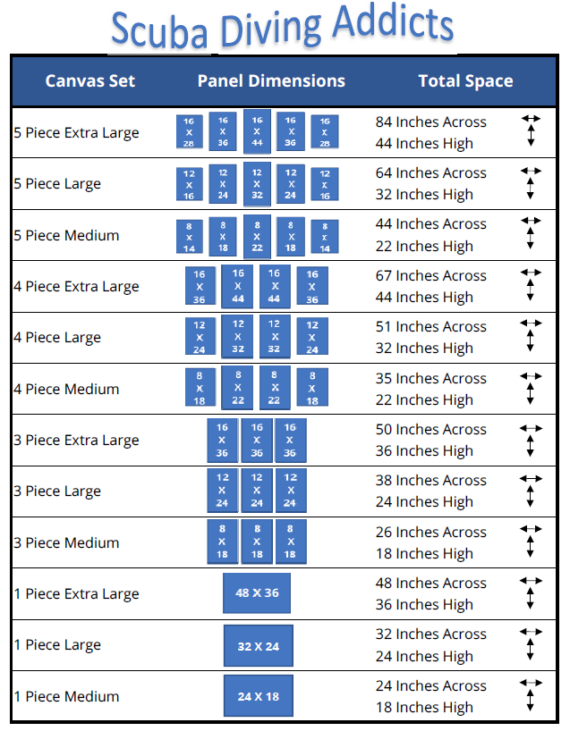 Custom Canvas Size Chart