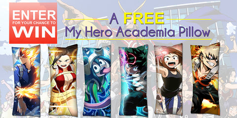 Want To Win A Free My Hero Academia Pillow? Enter Here!