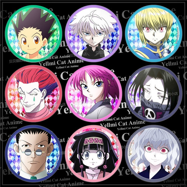 Hunter x Hunter Character Style Pins / Anime Buttons