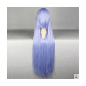 100 cm Long Light Blue Cosplay Wig