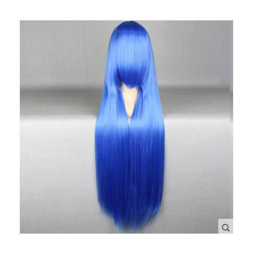100 cm Long Blue Cosplay Wig