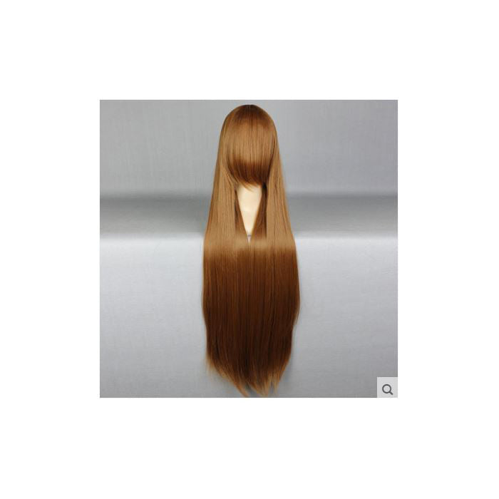 100 cm Long Brown Cosplay Wig