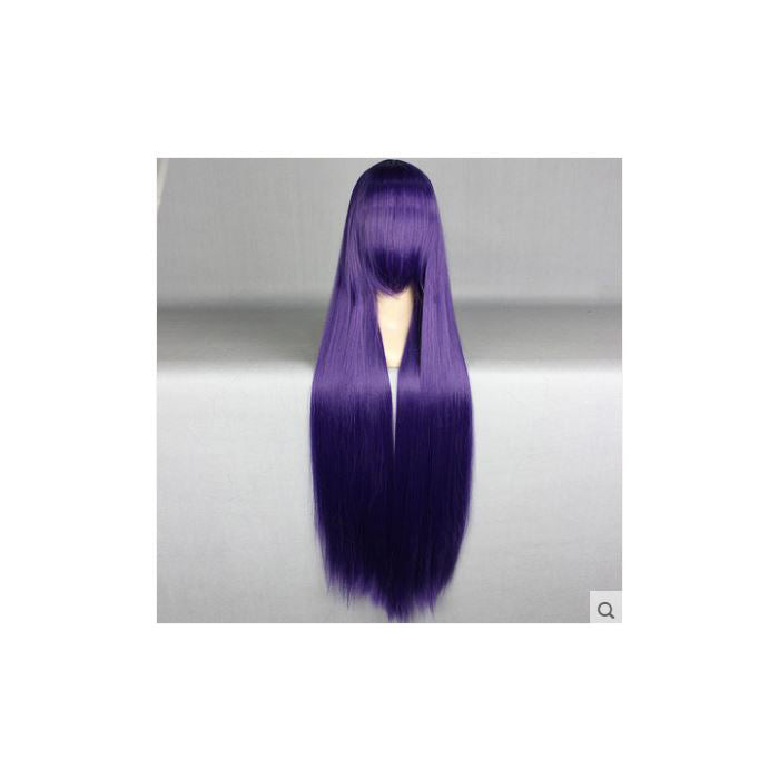 100 cm Long Deep Purple Cosplay Wig