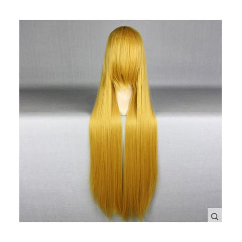 100cm Long Golden Blond Cosplay Wig