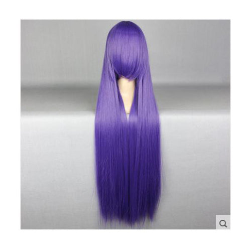 100cm Long Purple Cosplay Wig