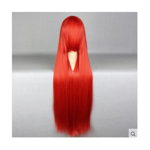 100cm Long Red Cosplay Wig