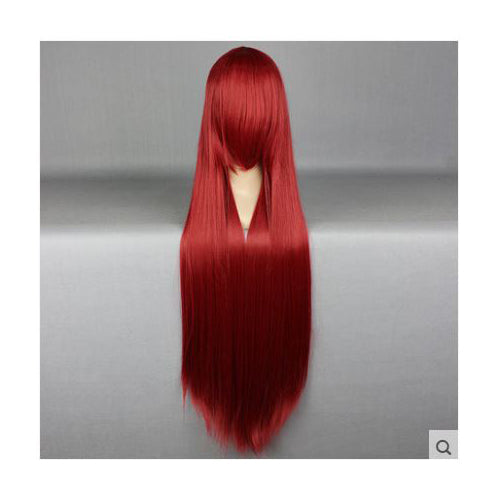 100 cm Long Wine Red Cosplay Wig