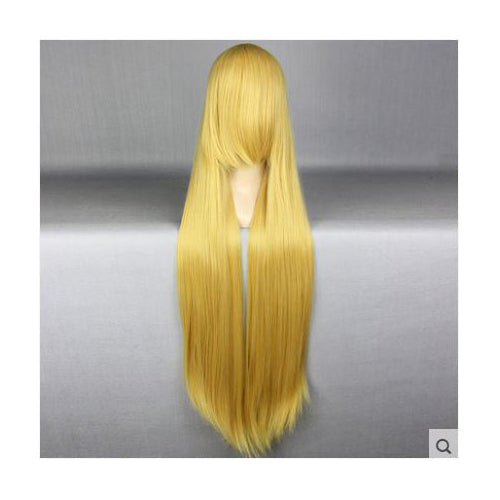 100cm Long Yellow Blond Cosplay Wig