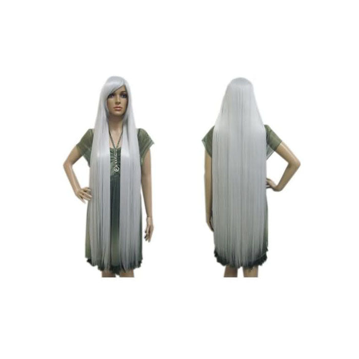 100cm Long Silver Cosplay Wig