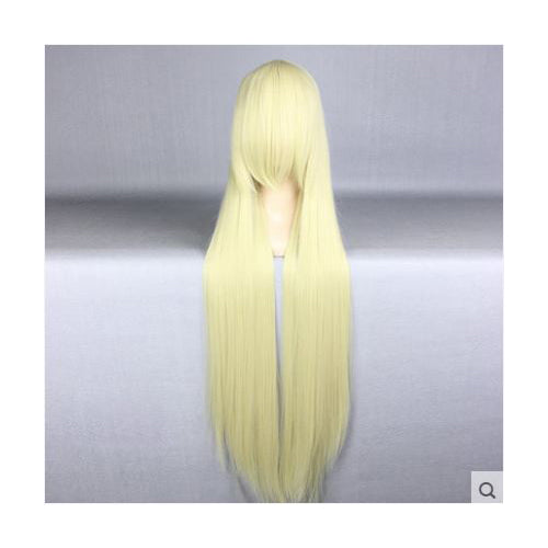 100cm Long Platinum Blond Cosplay Wig