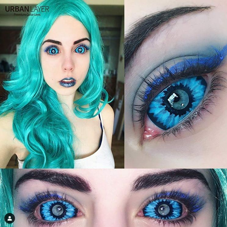 22mm Elf Blue Sclera Lenses