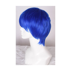 25cm Short Dark Blue Cosplay Wig