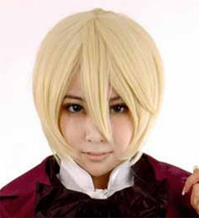 25cm Light Blond Cosplay Wig