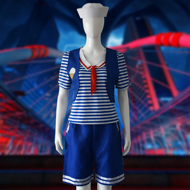 Stranger Things 3 Scoops Ahoy Uniform cosplay costume (Female / Male versions available)