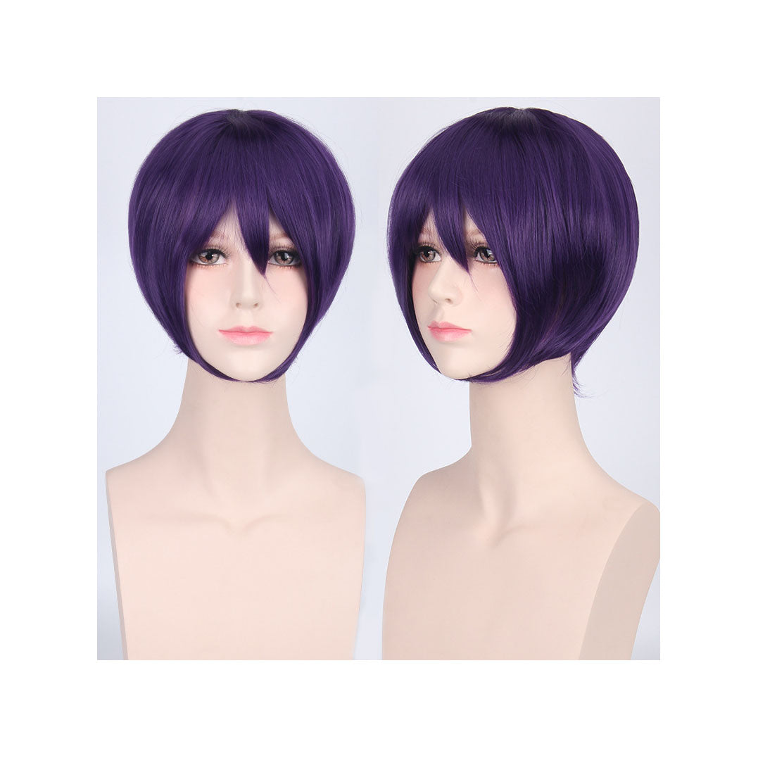 35 cm Neck-length Deep Purple Cosplay Wig