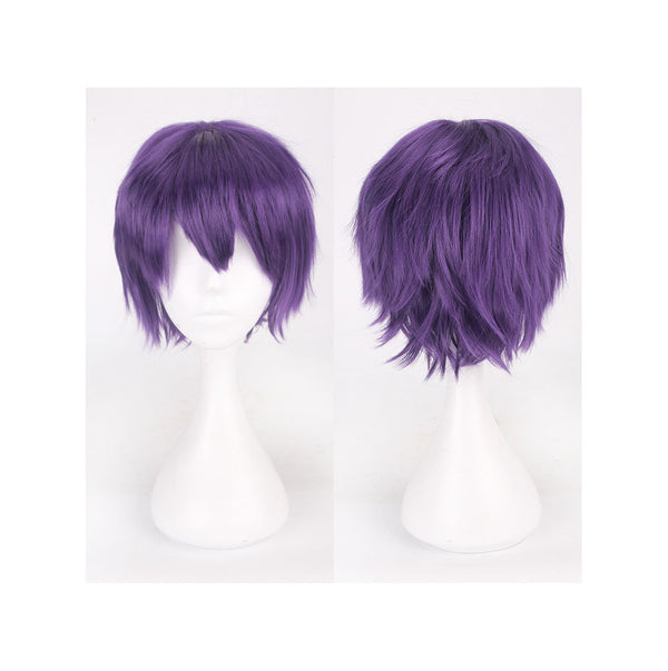 35 cm Short Deep Purple Cosplay Wig