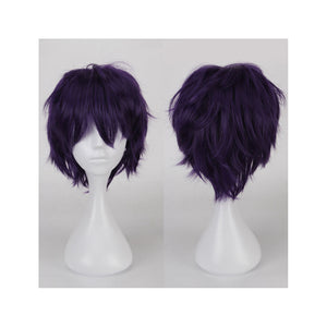 35 cm Tousled Dark Purple Cosplay Wig