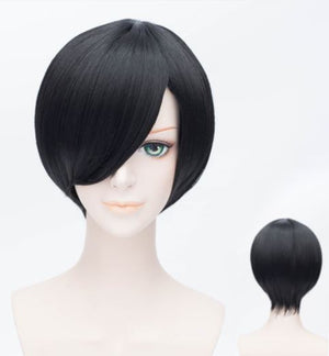 35cm Straight Black Cosplay Wig