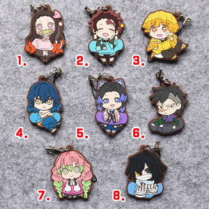 Demon Slayer Rubber Keychain (8 Styles Available)