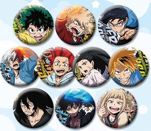 My Hero Academia Character Style Buttons / Anime Pins