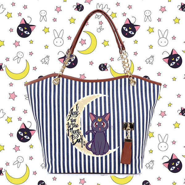 "Sailor Moon ""I Love You To The Moon and Back"" Hand Bag"