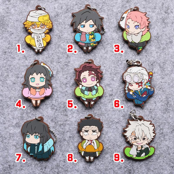Demon Slayer Rubber Keychain / Phone Charms