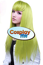 60cm Long Green Cosplay Wig