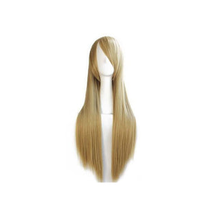 80cm Long Flaxen Blond Cosplay Wig