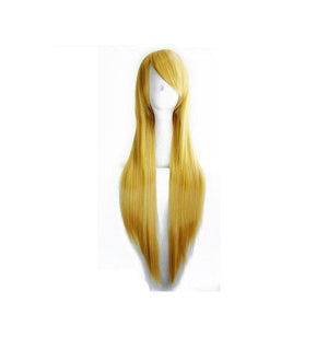 80cm Long Golden Blond Cosplay Wig