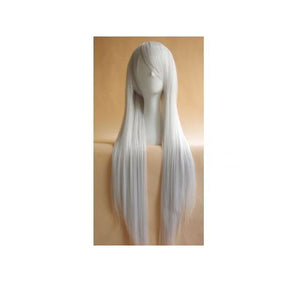 80cm Long Silver Cosplay Wig